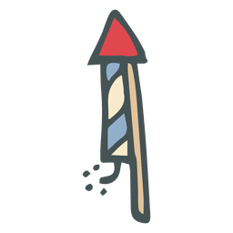 Firework hand drawn cartoon icon 19