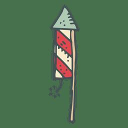 Ícone de desenho animado de mão desenhada de fogo de artifício 21