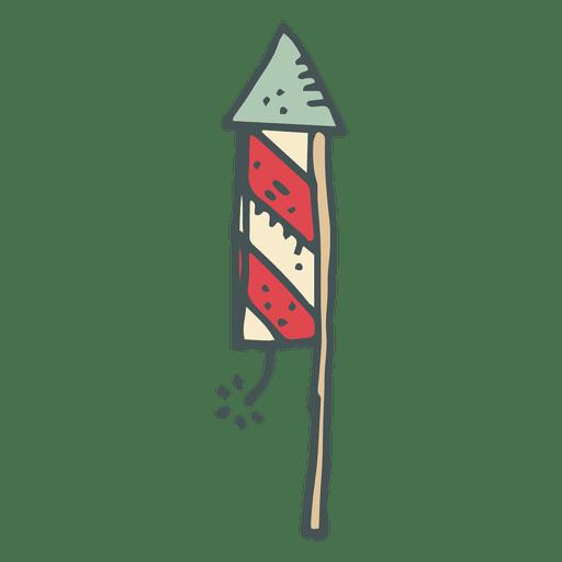 Icono de dibujos animados dibujados a mano de fuegos artificiales 21