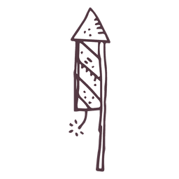 Firework hand drawn icon 15