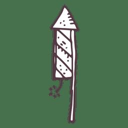 Icono dibujado mano fuego artificial 15
