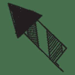 Gezeichnete Ikone des Feuerwerks 57