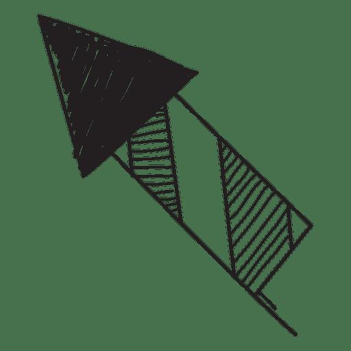 Icono dibujado a mano de fuegos artificiales 57