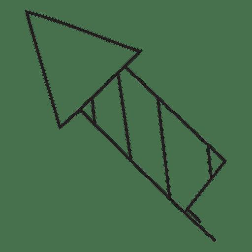 Icono de trazo dibujado a mano de fuegos artificiales 16