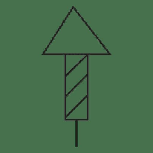 Icono de trazo de fuegos artificiales 30