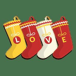 Cuatro medias de navidad amor icono 32