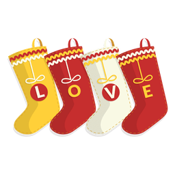 Four love christmas stockings icon 32
