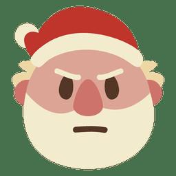 Frown santa claus face emoticon 63