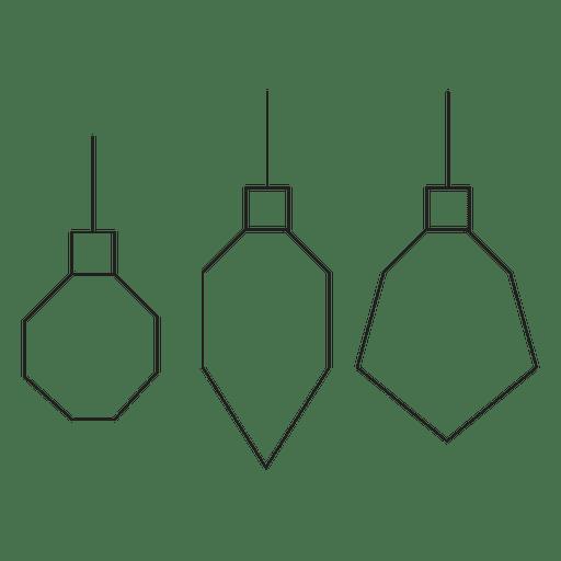 Bolas de Natal geométricas ícone de acidente vascular cerebral 9 Transparent PNG