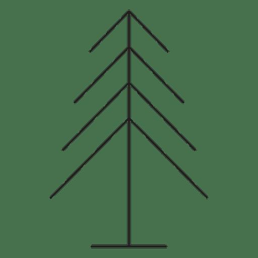 Geometric Christmas Tree Stroke Icon 4 Transparent Png