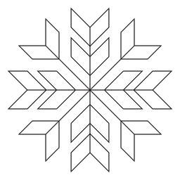 Geometric poinsettia stroke icon 28