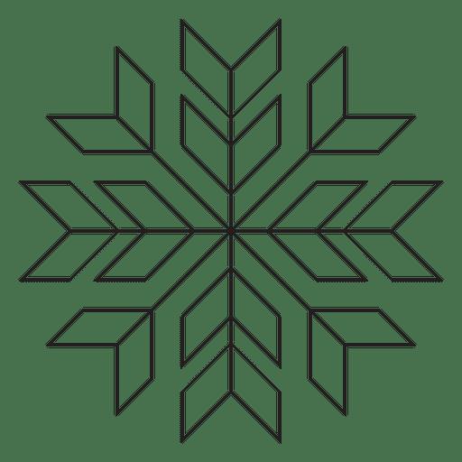 Geometric poinsettia stroke icon 28
