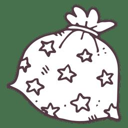 Gift bag hand drawn icon 20