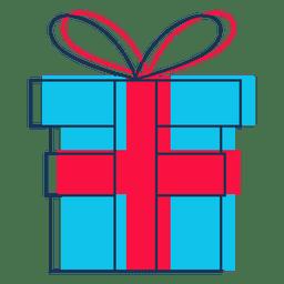 Icono de dibujos animados de caja de regalo 44