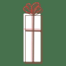 Ícone dos desenhos animados da caixa de presente 79