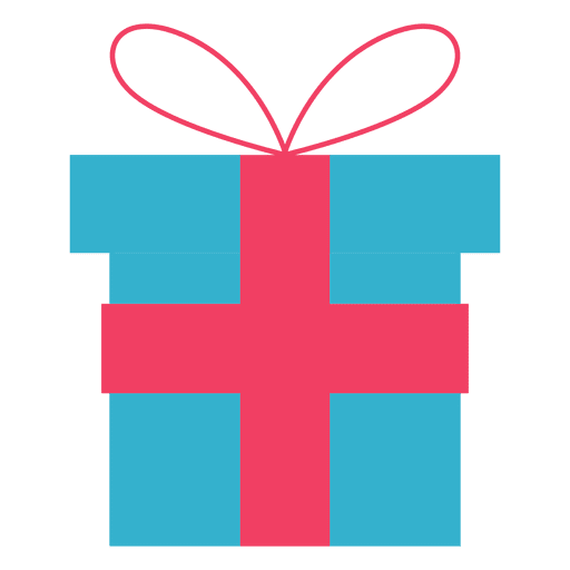 Gift box flat icon 75 - Transparent PNG & SVG vector