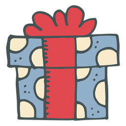 Caja de regalo dibujado a mano icono de dibujos animados 6