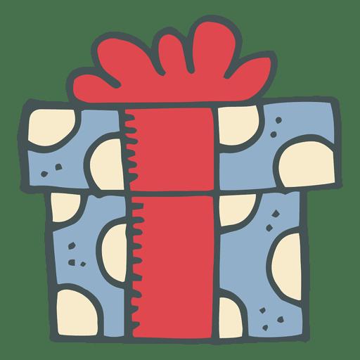 6 icono dibujo animado hecho a mano caja de regalo