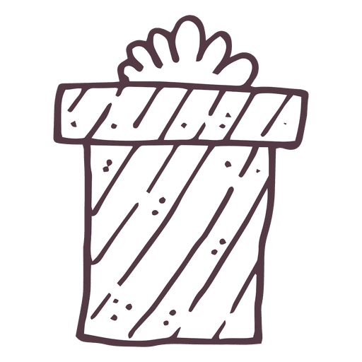 Christmas gift box hand drawn icon 12 Transparent PNG