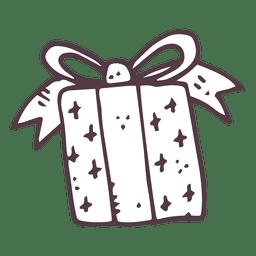 Gift box hand drawn icon 15