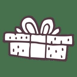 Icono de dibujado a mano caja de regalo 44