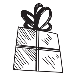 Gift box hand drawn icon 53