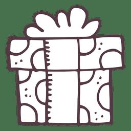 Caixa de presente desenhada mão