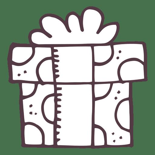 Caja de regalo dibujada a mano