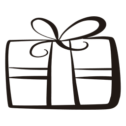 Gift box stroke icon 51