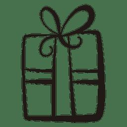 Icono de trazo de caja de regalo 53