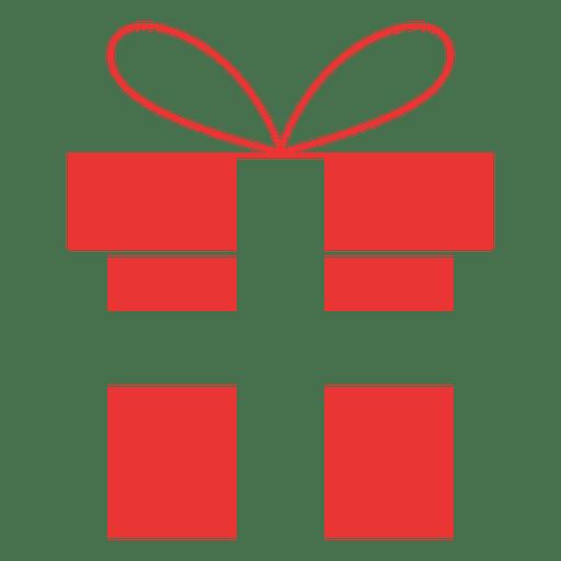 Icono de regalo plano rojo 10 Transparent PNG