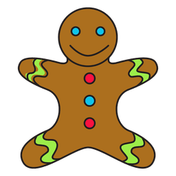 Gingerbread man cartoon icon 58