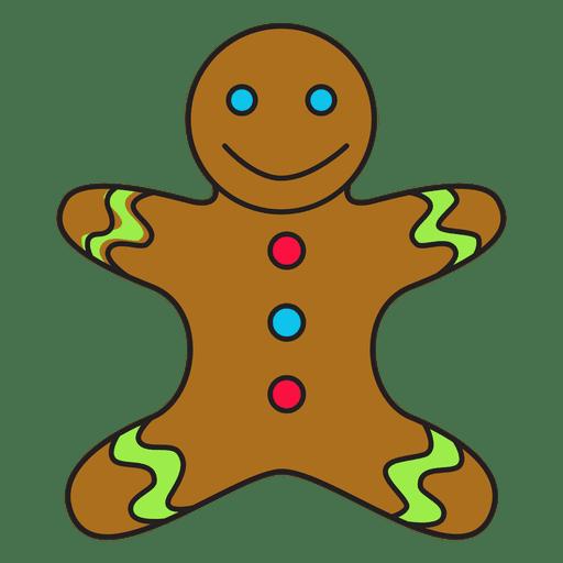 Gingerbread man cartoon icon 58