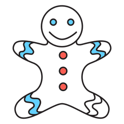 Gingerbread man cartoon icon 54