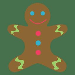 Icono plano de hombre de pan de jengibre 63
