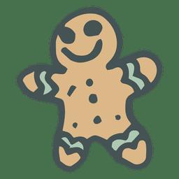 Hombre de jengibre mano icono dibujado dibujos animados 33
