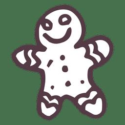 Icono de pan de jengibre dibujado a mano 9