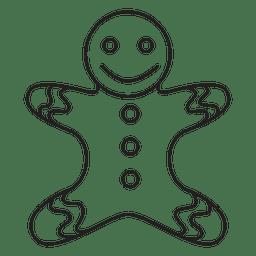 Icono de trazo de hombre de pan de jengibre 88