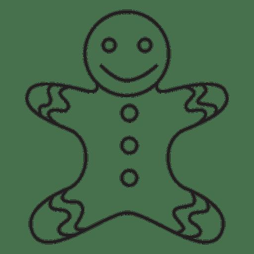 Gingerbread man stroke icon 88