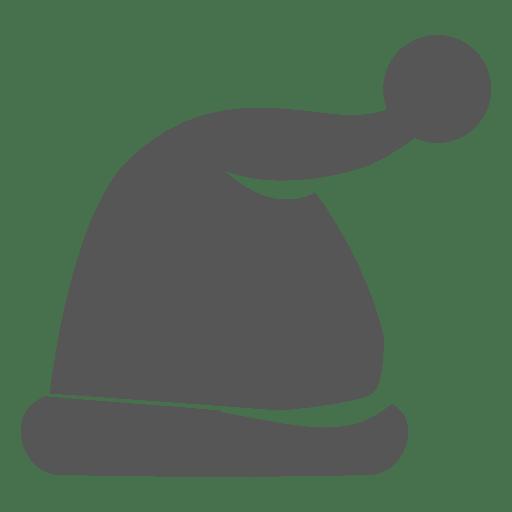 Grey santa claus hat icon 2 Transparent PNG