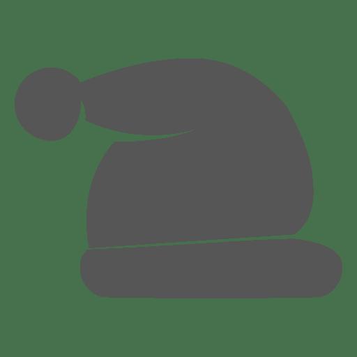 Grey santa claus hat icon 3 Transparent PNG