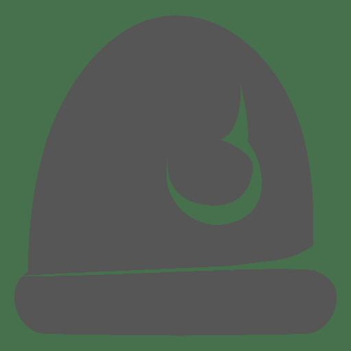 Ícone de chapéu de Papai Noel cinzento 4 Transparent PNG