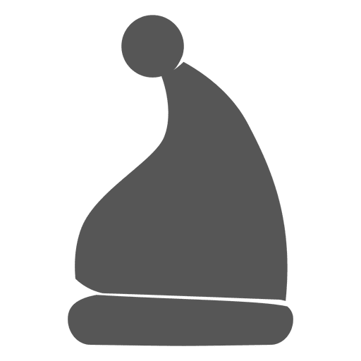 Chapéu de Papai Noel cinzento ícone 6 Transparent PNG