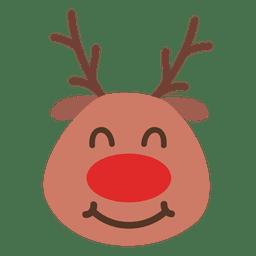 Grin reindeer face emoticon 53