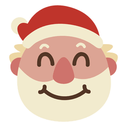Grin santa claus face emoticon 59