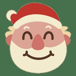 Sorriso emoticon de rosto de Papai Noel 59