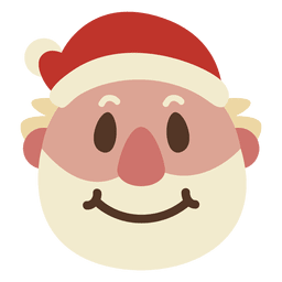 Sorriso emoticon de cara de papai noel 68