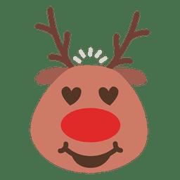 Heart eyes reindeer face emoticon 48