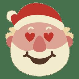 Corazón ojos de santa claus cara emoticon 50