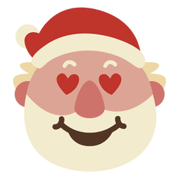 Heart eyes santa claus face emoticon 50